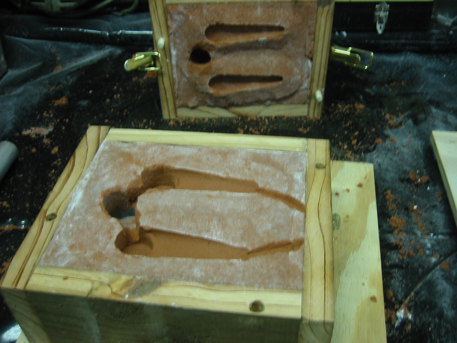 (13) Using a knife or blade carve out the