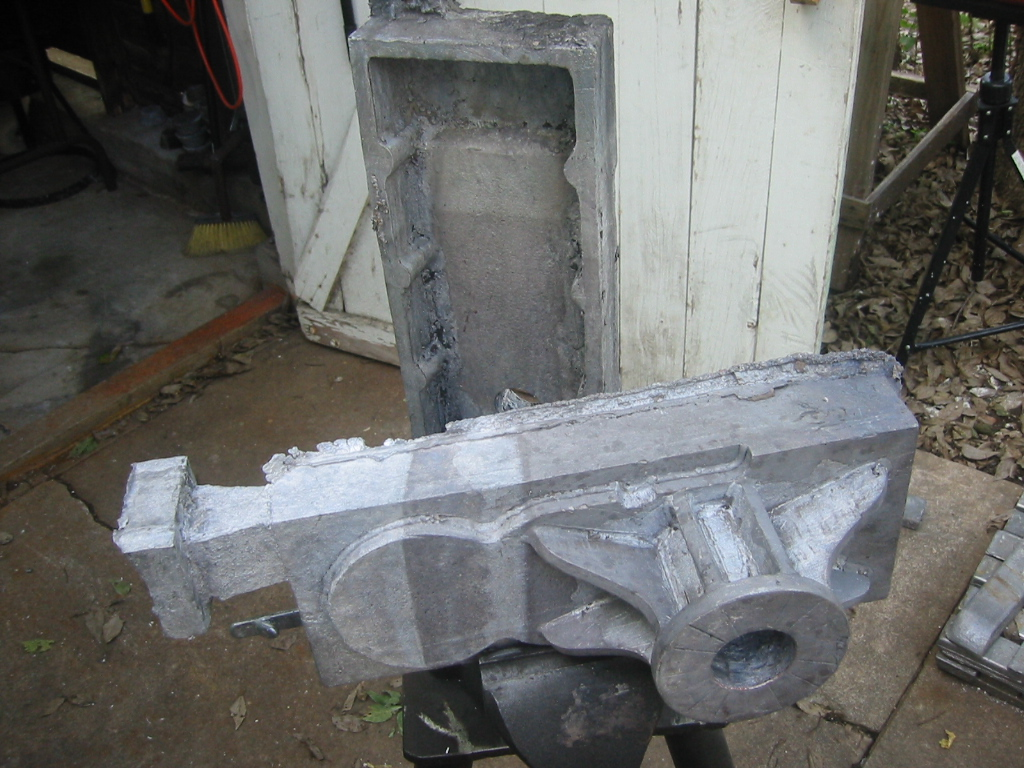 (8) Gearbox halves after the mud was removed by letting them   soak in a bath of water.