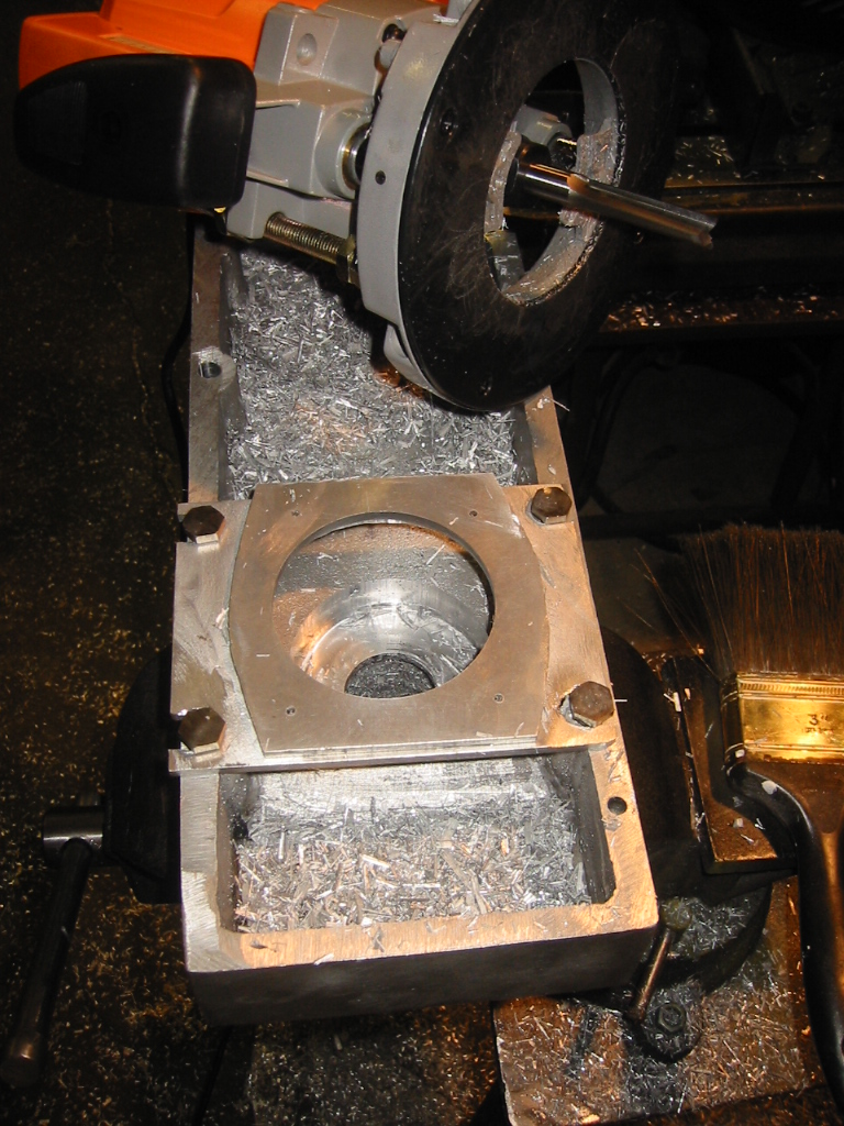 (11) Using a jig to cutting recesses for the bearings,