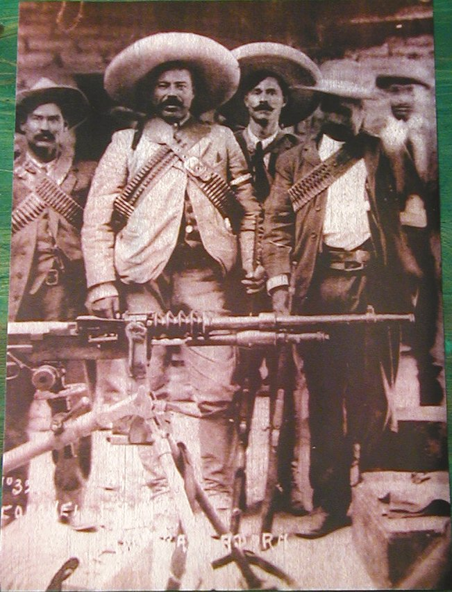 (5) PanchoVilla, the infamous outlaw and revolutionary known for his fondness of large guns.